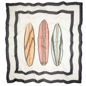 J. Crew surfboard linen scarf